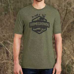 Homegrown Experience Logo T – Military Green